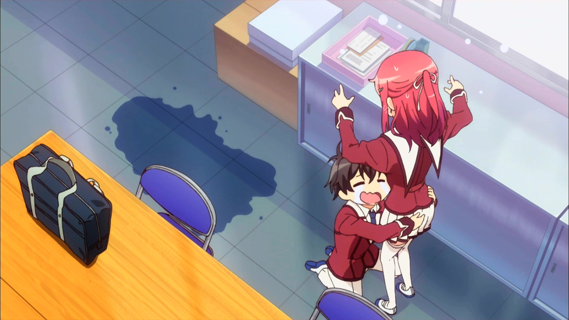 [HorribleSubs] Inou Battle wa Nichijou-kei no Naka de - 01 [1080p].mkv_20141016_234609.171.jpg